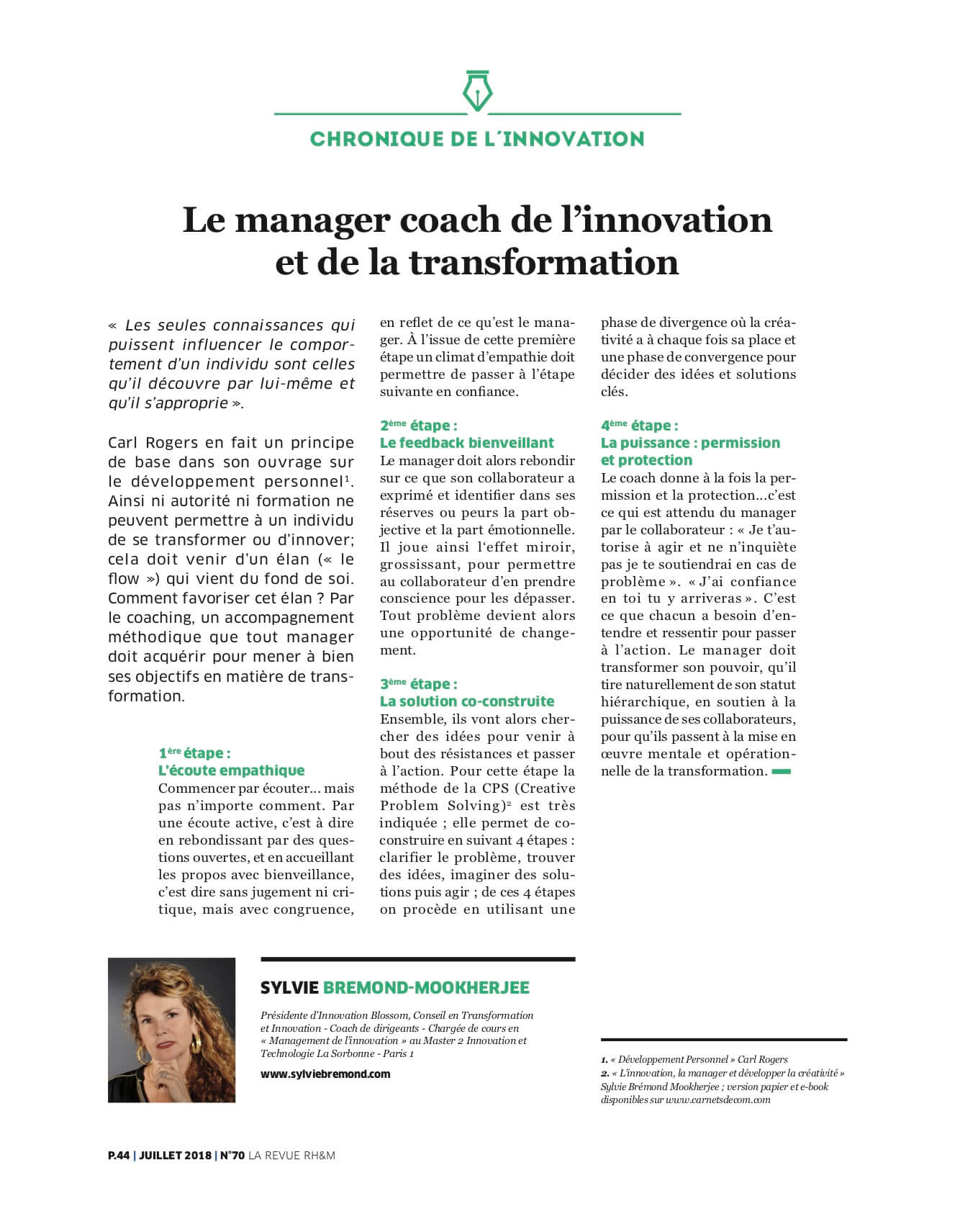 manager innovation transformation