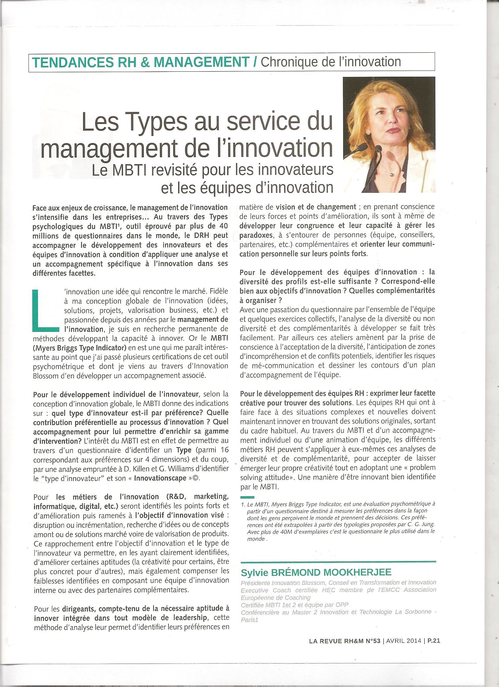rhm types service innovation