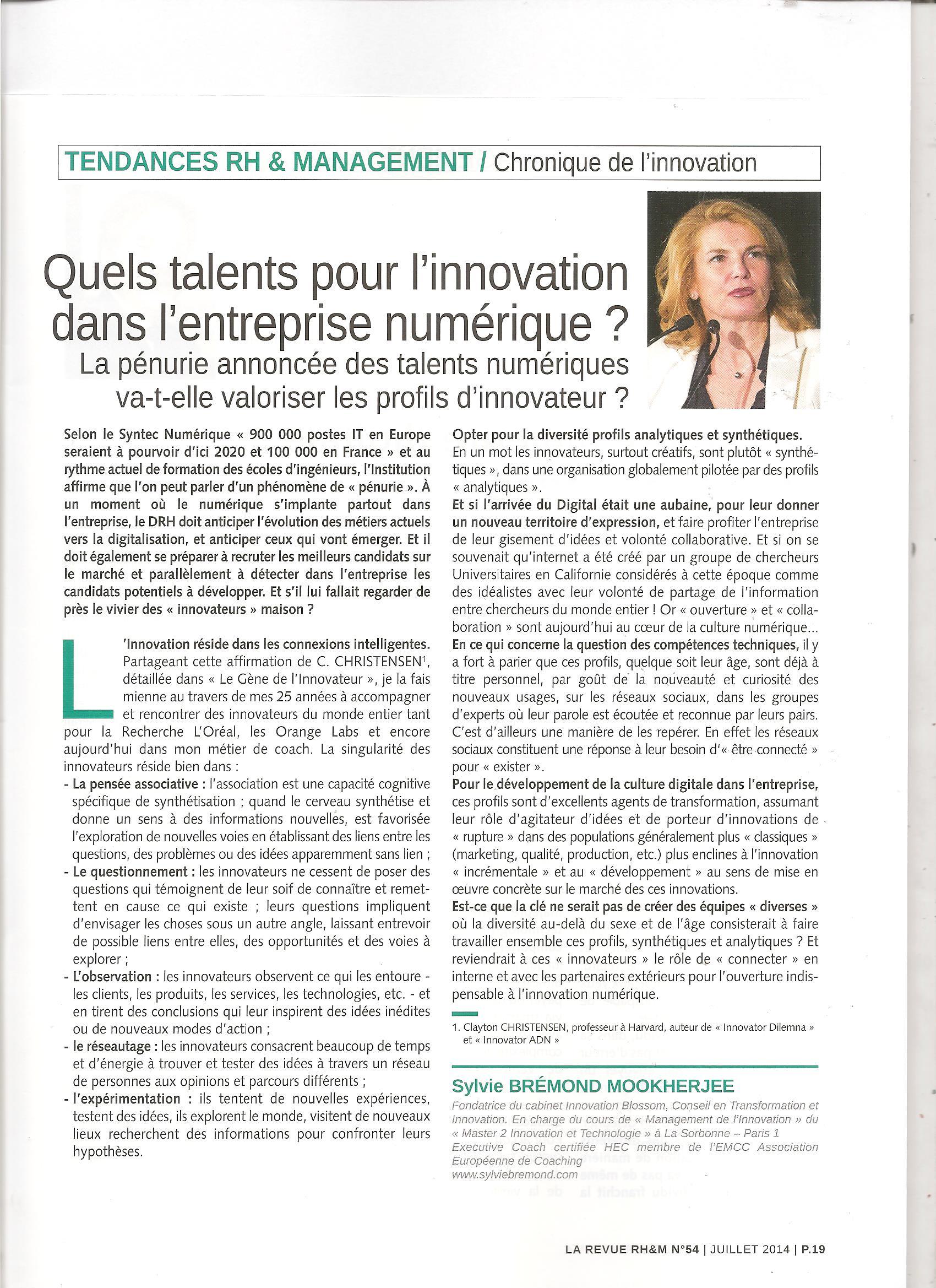 article DRHM Juillet 2014