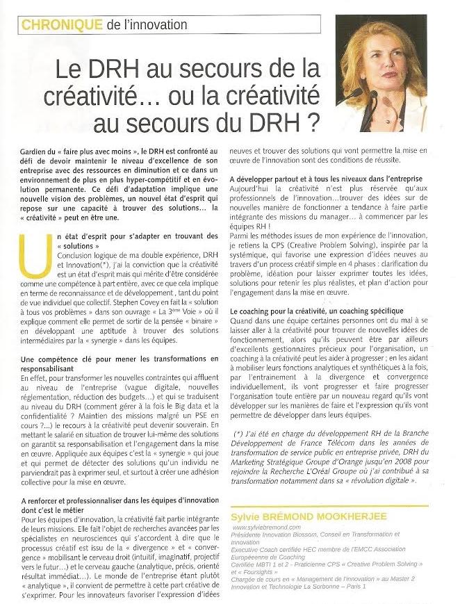 DRH au secours de la créativité